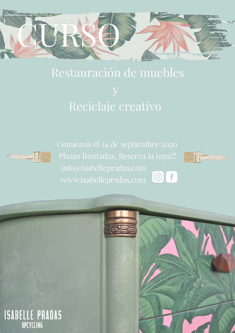 Curso de restauración de muebles y reciclaje creativo